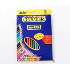 New Eite ดินสอสี หนึ่งกล่องมีจำนวน 18 แท่ง รวม 18 สี (แลกซื้อ 240 คะแนน)