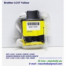 ตลับหมึกอิงค์เจ็ท Brother LC-47 Y สีเหลือง