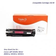 ตลับหมึกเทียบเท่า Canon Cartridge 316 Magenta สำหรับเครื่องพิมพ์ Canon