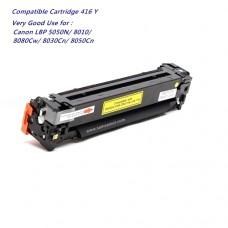 หมึกเทียบเท่า Canon Cartridge 416 สีเหลือง สำหรับ Canon