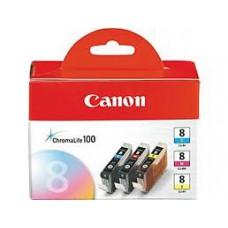 ตลับหมึกอิงค์เจ็ท Canon CLI-8C,M,Y
