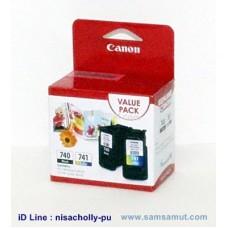 ตลับหมึกอิงค์เจ็ท Canon PG-740 BK/ CL-741 CO แพ็คคู่