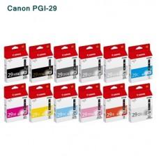 Canon PGI-29 C/ Y/ M/ PC/ MBK/ PBK/ DGY/ GY/ CO/ R/ LGY/ PM หมึกอิงค์เจ็ท