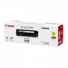 ตลับหมึกโทเนอร์แท้ Original Canon Cartridge 318 Y ผงหมึกสีเหลือง