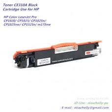 ตลับหมึก CE310A สีดำ ตลับหมึกเทียบเท่า สำหรับ HP