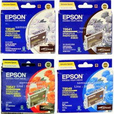 Epson T0540 , T0541 , T0547 , T0548  , T0549 หมึกอิงค์เจ็ทเครื่องพิมพ์เอปสัน Stylus Photo R800 R1800