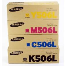 Samsung CLT-K506L C506L M506L Y506L ตลับหมึกโทนเนอร์ชุดสี แท้ ขนาดพิเศษ!