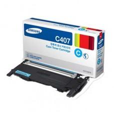 Samsung CLT-C407S ตลับหมึกโทนเนอร์แท้  สีฟ้า